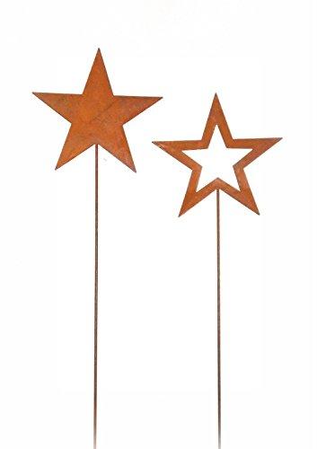 Ocean Pacific Juego de 2 Pendientes de Estrella de Metal con Acabado Oxidado.