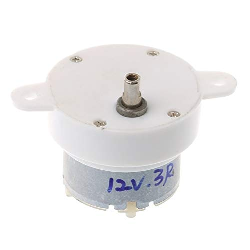 Pangocho Jinchao-Motor de Corriente Continua Caja de Engranajes Down Moder Mute, DC 12V 3 RPM Mámetro eléctrico eléctrico de Cilindro de Alto Torque, Fácil de Instalar (Voltage(V) : 12V)