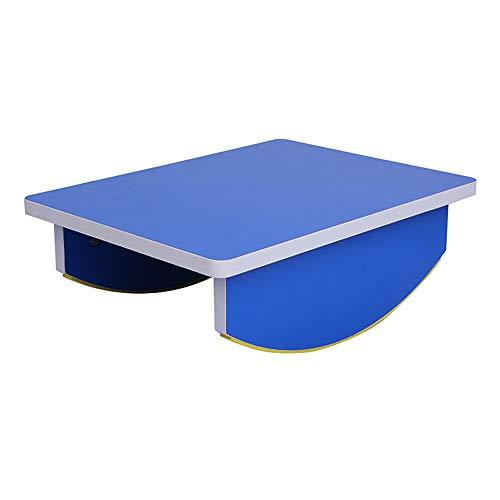 LPGER Holz Balance Board, Kinder Balance Tisch, Schwebebalken Kinder Home Balance Tisch Kindergarten Balance Balken Früherziehung Rehabilitation Wippe,Blau