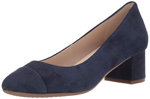 Cole Haan Damen Heel Pump (45MM) The Go-to Block Fersenpumpe, 45 mm, Marineblaues Wildleder Wp, 35.5 EU