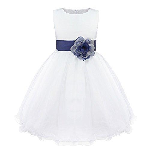 IEFIEL Vestido Elegante de Fiesta para Niña Vestido Cóctel Flores de Dama...