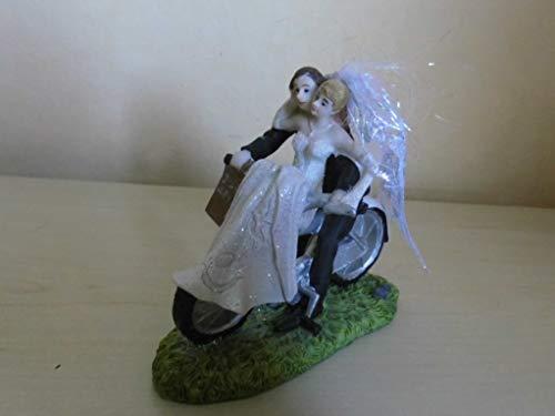 Hochzeitspaar Brautpaar auf dem Rad - Fahrrad Tischdeko Tortendekoration