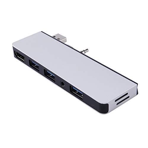 CGGA Estación de Acoplamiento, convertidor de transmisión de Video Ligero y portátil Adecuado para computadora portátil de Superficie 2/3 (Color : Silver)