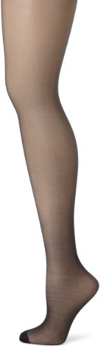 Hanes Women's Control Top Reinforced Toe Silk Reflections Panty Hose, Classic Navy, C/D