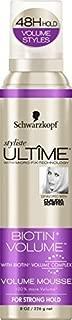 Schwarzkopf Stylist Ultima Biotin Volume Mousse, 8 oz.