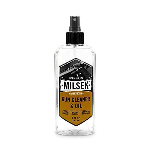Milsek Gun Cleaner & Oil, 8-Ounce, GS-8, clear