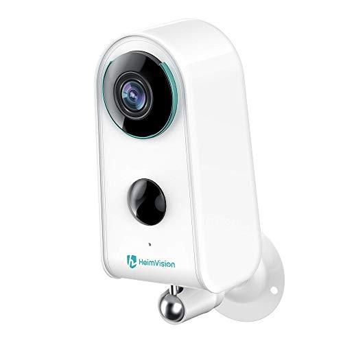 Cámara de vigilancia inalámbrica con batería para exteriores, detección de movimiento, cámara de vigilancia WiFi para casa con nube, 1080P, audio bidireccional, resistente al agua