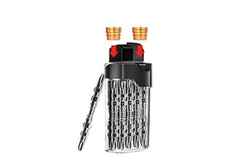 Juego de puntas de destornillador de 10 piezas Ph2 X Φ4.5 Mm X 65 mm Kit de destornillador Phillips de acero de aleación de doble cruz magnética S2 para trabajo pesado, incluida la caja de almacenamie