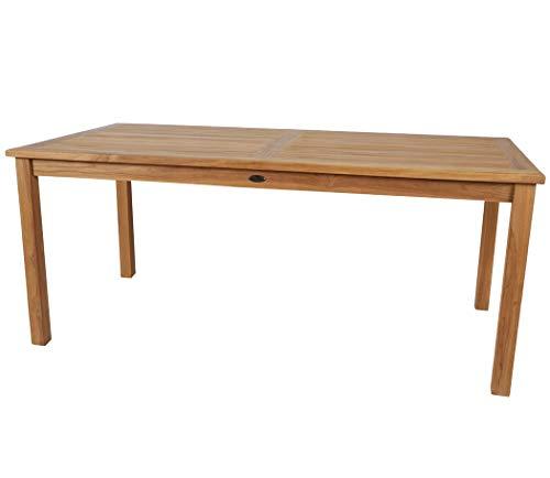 KMH®, Rechteckiger Teak Gartentisch 180 x 90 cm (#102130)