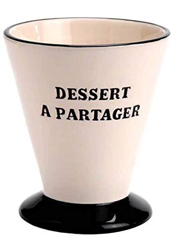 Coupe à glace en dolomite dessert à partager 10x10x11.5cm