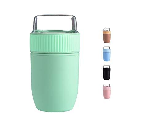 Coninx Porta Yogurt - Porta Yogurt Refrigerato - Contenitore Yogurt - Tazza di Yogurt per Gli Spostamenti - Sicuro per Lavastoviglie - Facile da Usare per Grandi e Piccini - Capacità 640 ml (Verde