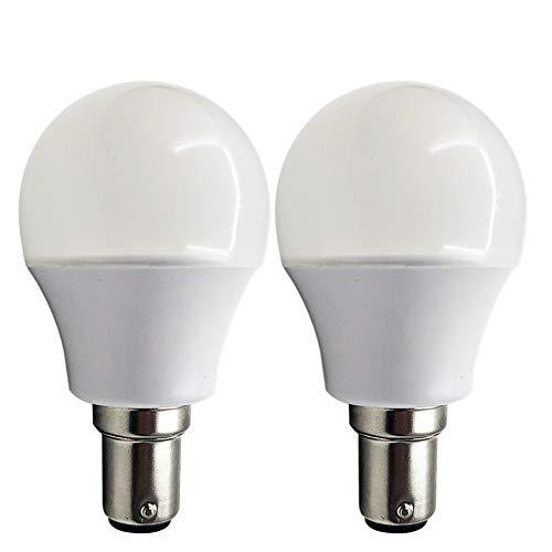 Ruiandsion - Lote de 2 bombillas LED BA15D, color blanco, 10-80 V, 1004, 1076, 1130, 1142, 1176, 2835, 15SMD, chipsets LED, para caravanas, remolques, caravanas, caravanas, barcos, etc.