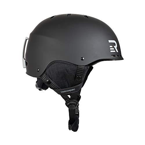 Retrospec Traverse H2 2-in-1 Convertible Ski & Snowboard / Bike & Skate Helmet with 14 vents; Matte Black, Large/X-Large 56-60cm (3486)