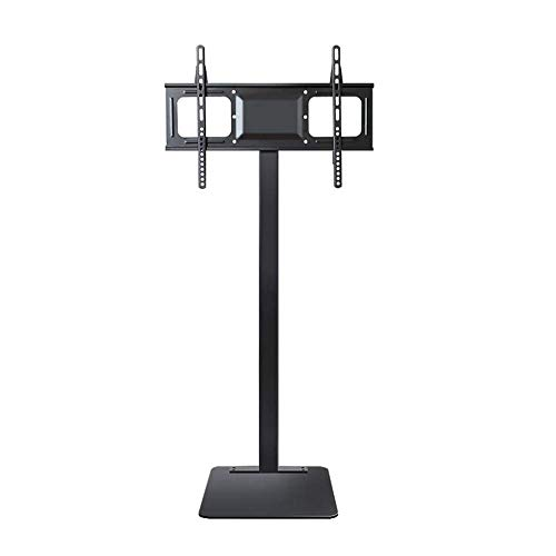 KANJJ-YU TV Stand/Rolling Monitor Tall Trolley With Adjustable Shelf And Flat Screen Mount – Fits 32″ To 70″ Monitors – Black Food