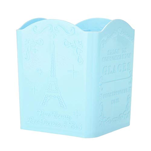 Cosmetic Storage-Papeterie Boîte de rangement for organiseur de bureau à motif Tour Eiffel for cosmétiques et outils de manucure (3 couleurs) (Couleur : Bleu)