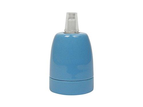 y LED E27 Portal/ámparas De Porcelana Azul Buchenbusch Urban Design 4,6 x 7,5 cm Cer/ámica De Alta Calidad Esmaltada Para Bombillas Hasta 100W 126 g Incluye Prisionero//Prensacables