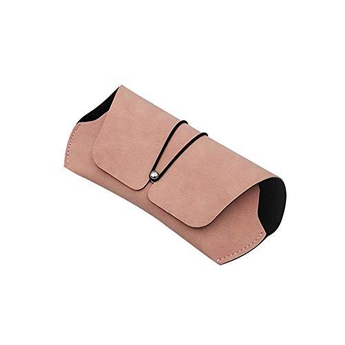 Bolsa para gafas de sol Estuches para gafas blandas Soporte para anteojos de cuero portátil Funda protectora para gafas vintage con botón a presión para hombres y mujeres