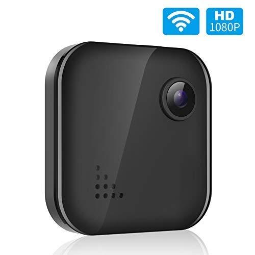 Spy Camera WiFi Wireless Home Security Camera Mini Hidden Camera Audio and Video Recording, Small House Camera Baby Monitor Nanny Cam, Remote Control on Phone App