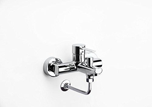 Roca Targa - grifo monomando exterior baño y ducha con inversor automático y codo enlace a pared para instal . Griferías hidrosanitarias Monomando. Ref. A5A2B96C00