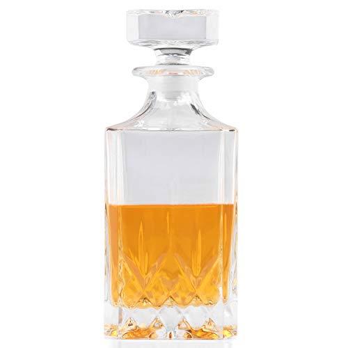 RCR 51520020006 Eckiger Opera Whisky-/Weindekanter aus Luxion-Kristall, Glas, Karaffe