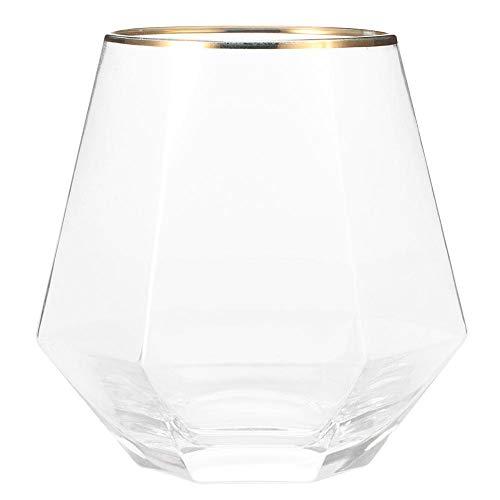 Unieke zeshoekige vorm transparant glas whisky Cup Delicate Gold Edge wijn bierpul Home bar accessoires 260 ml MEERWEG AANBIEDING