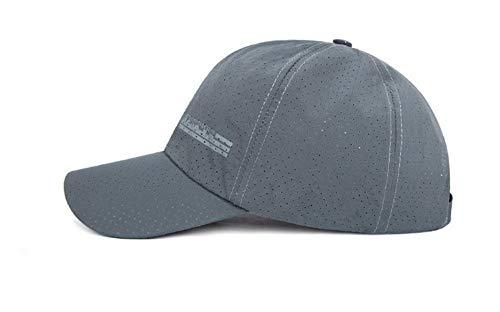 XZZZB Baseball Cap Chapeau Maille Respirante Fine Hommes Femmes Hommes Unisexe Pac Piscine Sport Hat Papa Hat Gris réglable