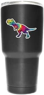 More Shiz Tie Dye Tyrannosaurus T-Rex (2 Pack) Vinyl Decal Sticker - Car Truck Van SUV Window Wall Cup Laptop - Two 3 Inch Decals - MKS0968