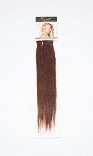 1st Lady soyeux droites Naturel européen 3 pcs extension de cheveux humains à clipser avec Premium Blend, numéro P4/33, Chocolat/riche en cuivre rouge, 45,7 cm 28 g