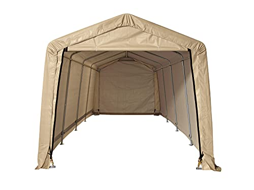 Shelterlogic All Steel Metal Frame Roof Instant Garage