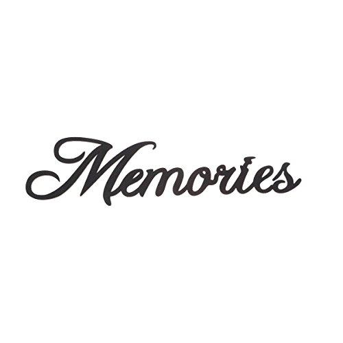 VOSAREA Schriftzug Holz Memories Vintage Buchstaben und Zeichen Wand Dekoration 38x10x0,2cm (Schwarz)