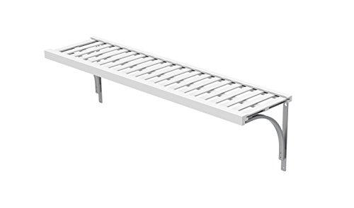 ClosetMaid 1427 Premium Wood Ventilated Shelf Kit, 4-Foot X 12-Inch, White