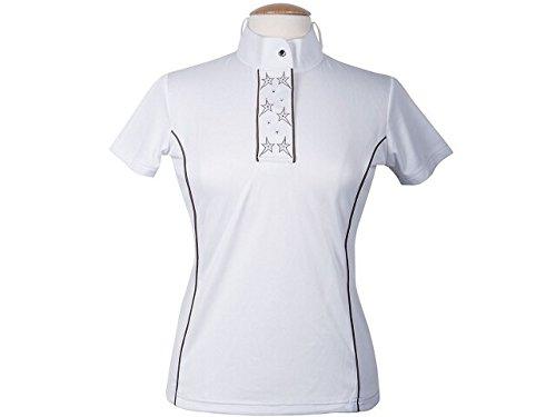Harrys Horse Damen Turniershirt Anniversary weiß Turnierbluse mit Sternen , Größe:XS