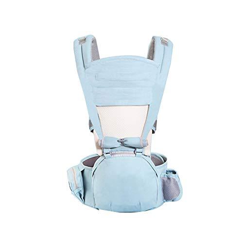 GJF Babytrage mit Hip Sitz Baumwolle Leichte atmungsaktive Babyschale Mehrfachheftung Träger Sling justierbare Taille Hocker für Neugeborene und Kleinkinder von 0 bis 4 Jahre (3,5-30 kg)-5