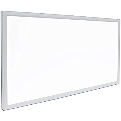 LED Panel Recessed in Ceiling Tile Light Or Ceiling Or Thin Flush Mount Lighting in Laundry Garage Workshop Office   Dimmable Bright Downlight