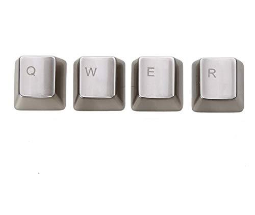 Placa de teclado de 108 teclas de metal, QWERASDF, 8 tapas para llaves para interruptor e interruptor, teclas mecánicas (color: QWER Key)