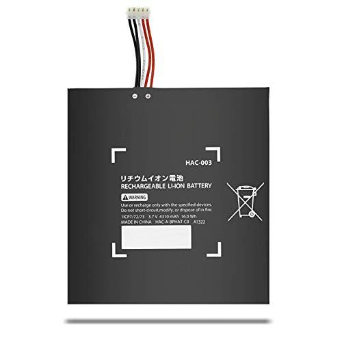 BatteryMon HAC-003 Battery Repalcement for Nintendo Switch HAC-001 HAC-A-BPHAT-C0 HAC-S-JP/EU-C0 (3.7V 16Wh)