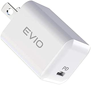 EVIO 20W USB-C 超小型急速充電器【PSE認証済】PD 充電器 iPhone 12/12 Pro/mini ipad Pro/Airその他 各種機器対応 Type C 充電器 ACアダプター