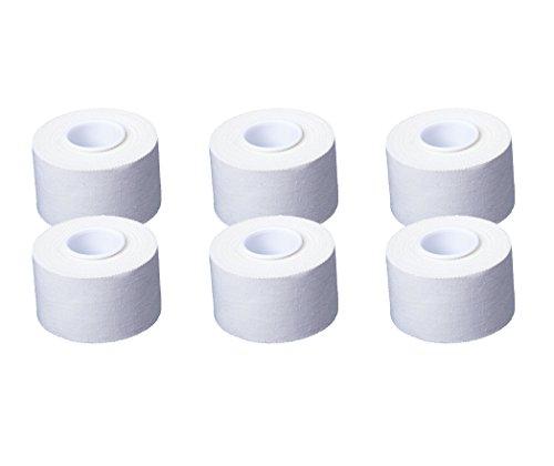 6 Rollen Cawila Sporttape 3,8 cm x 10,00 m | weiß