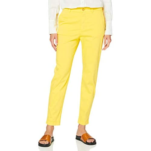 BOSS Sachini4-d Pantaloni, Giallo (Bright Yellow 730), 44 (Taglia Unica: 38) Donna