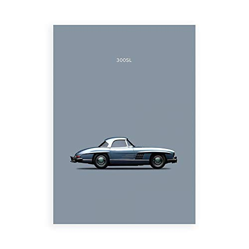 DìMò ART Druck auf Leinwand auf Leinwand, Motiv Rogan Mark Mercedes 300SL 1960
