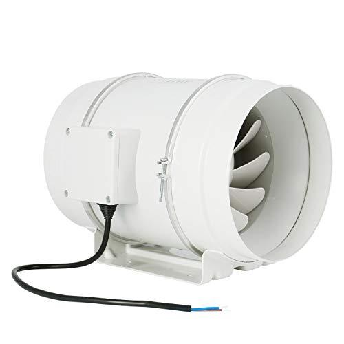 Ventilador de escape, HG Power 200mm Ventilador Extractor de Aire en Línea con Motor de Dos-velocidades para Oficina, Hotel, Baño - 840m³/h Ventilación(200mm)
