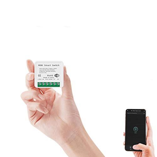 Mini Interruptor Wifi Inteligente, Compatible Con Tmall Genie, Alexa, Goolhome, Temporizador E Interruptor De Luz Inteligente, AutomatizacióN Del Hogar Inteligente (No Se Requiere Concentrador)