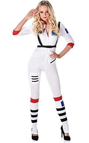 Karnival Costumes- Female Astronaut Disfraz, Color blanco, medium (81115)