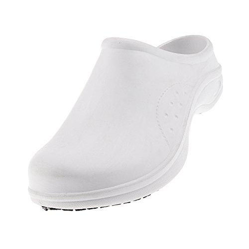 Baoblaze Zapatos de Enfermera Resistentes Hongos Accesoiros Duradero - Blanco, EU 37