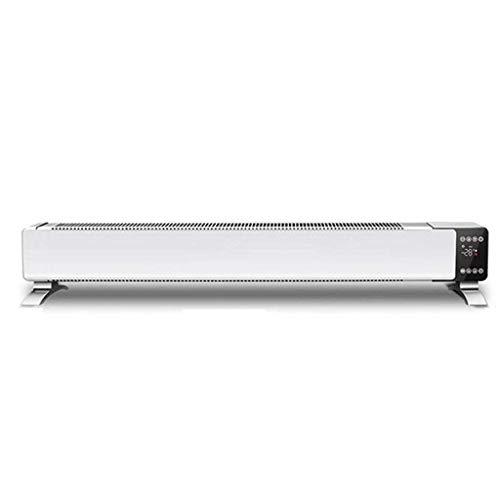 HYY-YY Calentadores de zócalo con control remoto para ahorro de energía del hogar con función de corte térmico de seguridad para calefacción de suelo convector calentador de convector calentadores