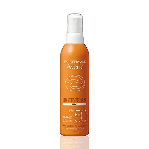Avene 3 Milch Solar Spray Schutz SPF50+. Wasserabweisend fotoprotettore, 200 ml