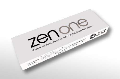 Zen One Kondome (Packung mit 2 Stück) - 24 Luxus-Rippen- und gepunktete mit extra Schmierung