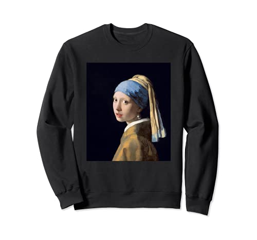 Chica con una perla pendiente Vermeer Fine Art Pintura Femenina Sudadera