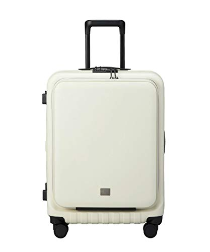 (ミレスト) キャリーケース フロントポケットキャリー 50L ストッパー付 ホワイト White 白 MILESTO UTILIT...
