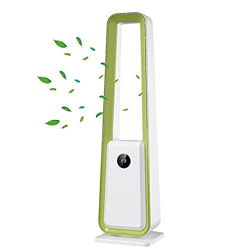 JKHK Ventilador Sin Cuchillas, Suministro de Aire de Gran Angular de 60 °, 3 Configuraciones de Velocidad, Temporizador de 8 Horas, para el Dormitorio de la Oficina en Casa, Etc